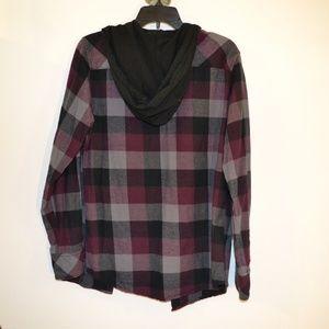 UNIONBAY Shirts - UNIONBAY PLAID SHIRT/HOODIE